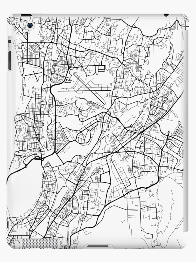 Map Of Ireland Black And White.Dublin Map Ireland Black And White Ipad Cases Skins By
