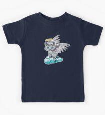 Angel Cat Chibi Kids Tee
