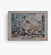 0176 ballooning The chamber of genius Rowlandson inv 1812 Canvas Print