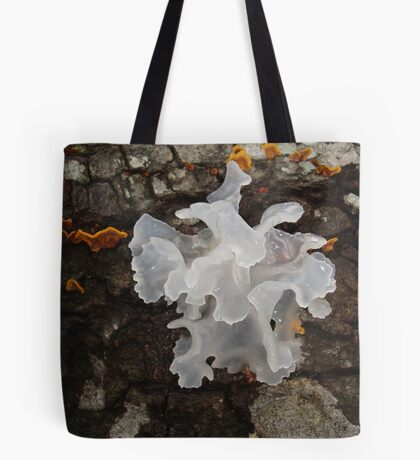 Pretty, frilly fungus (Tremella fuciformis) Tote Bag