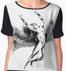 ICARUS THROWS THE HORNS - black ***FAV ICARUS GONE? SEE BELOW*** Women's Chiffon Top