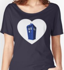 Tardis Heart Women's Relaxed Fit T-Shirt