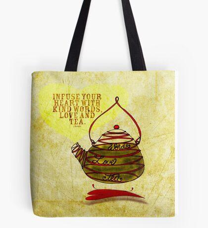 What my #Tea says to me - February 25, 2013 pillow Tote Bag
