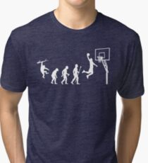 Basketball Evolution Funny T Shirt Tri-blend T-Shirt
