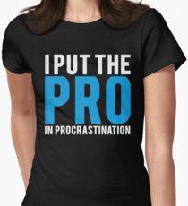 Procrastination Women's Fitted T-Shirt