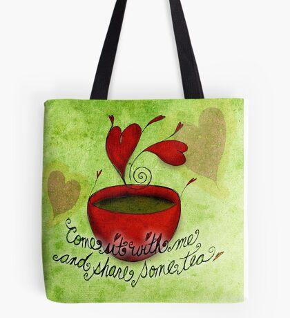 What my #Tea says to me - February 5, 2013 pillow Tote Bag
