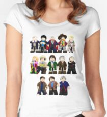 Doctor Who - Toy Doctors Women's Fitted Scoop T-Shirt