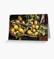 Amalfi Lemons Greeting Card