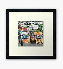 Belleville Streetart Framed Print