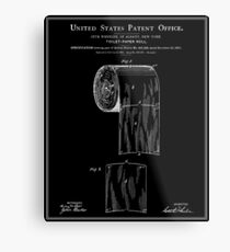Toilet Paper Roll Patent - Black Metal Print