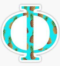 Phi Pineapple Letter Sticker
