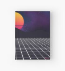 80s Sunset Hardcover Journal