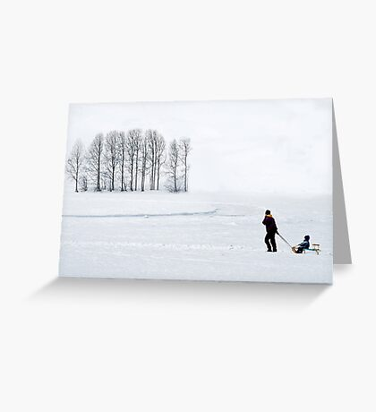Mother in all weathers Greeting Card