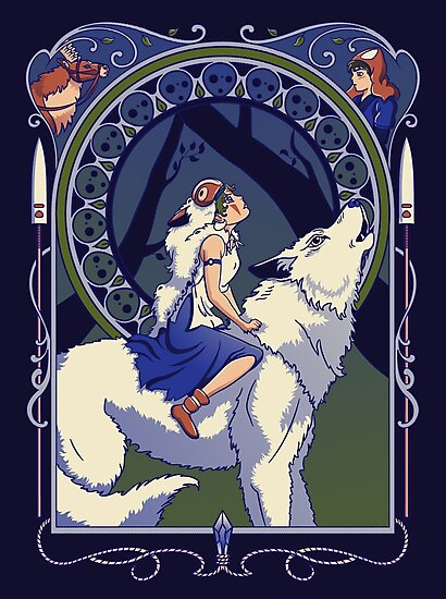 Wolf Princess Nouveau by Stephanie Whitcomb
