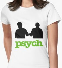 Psych Fist Bump Womens Fitted T-Shirt