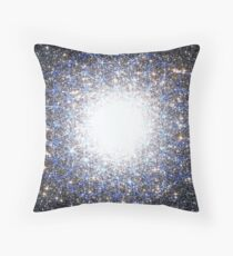 Tree of Life [Blue] | Tight Star Cluster | Sacred Geometry Throw Pillow