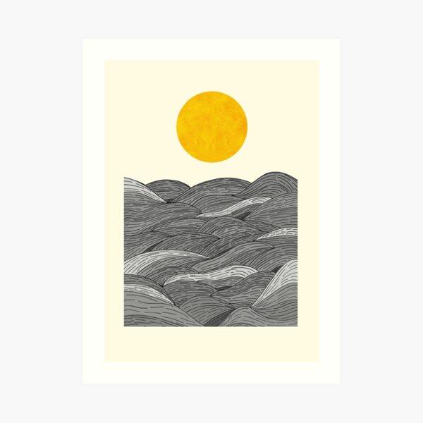 The Grey Waves Art Print