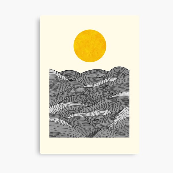 The Grey Waves Canvas Print