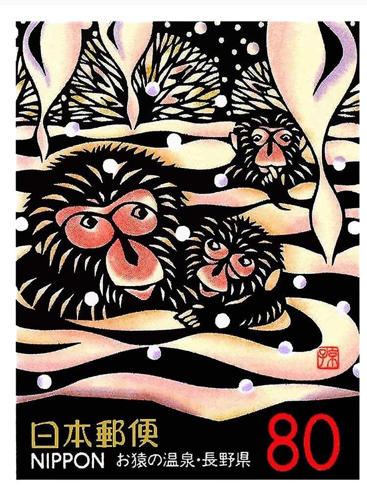 1989 Japan-Schnee-Affe-Briefmarke von retrographics