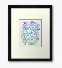 Little & Fierce – Lavender Mint Ombré Framed Print