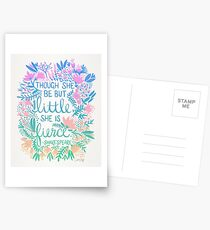 Little & Fierce – Lavender Mint Ombré Postcards