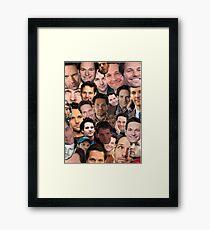 Paul Rudd Collage Framed Print