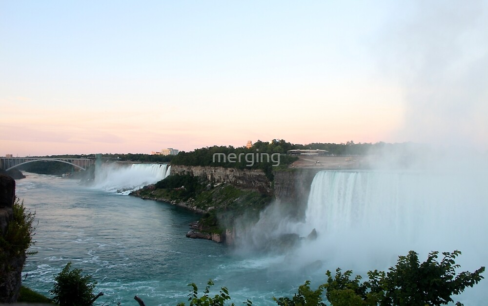 The View of Niagara Falls  by merging