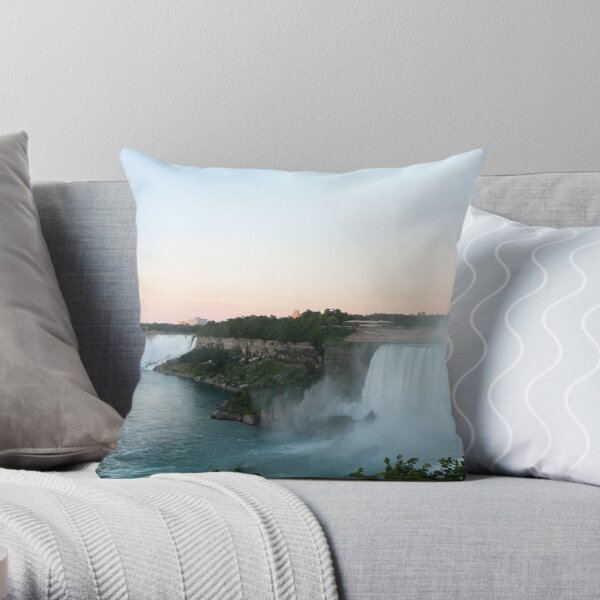 The View of Niagara Falls  Throw Pillow