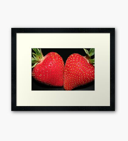 Strawberry Duo Framed Print