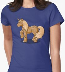 Unocchio the Wooden Unicorn Womens Fitted T-Shirt