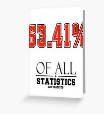 Statistics Math (Joke) Greeting Card