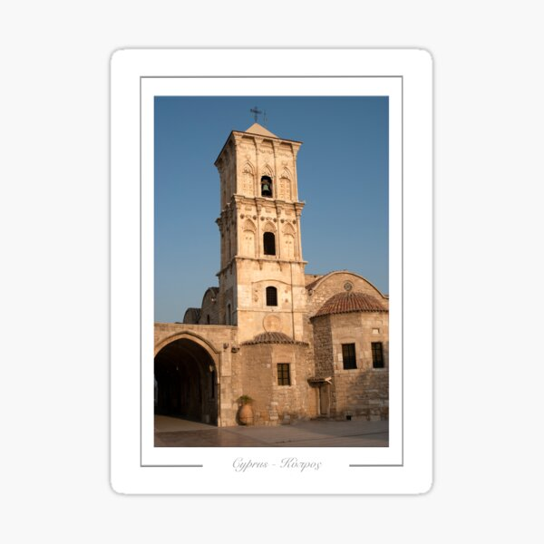 Larnaca Cyprus.  Ayios Lazaros Church, built in the ninth century to house the remains of Lazarus. Sticker