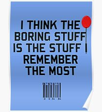 The Boring Stuff Poster