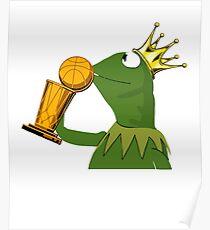Frog Kissing Championship Trophy Poster