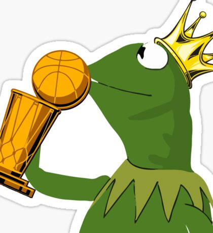 Frog Kissing Championship Trophy Sticker