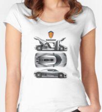 Koenigsegg tribute Women's Fitted Scoop T-Shirt