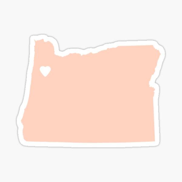 Oregon Peach Sticker