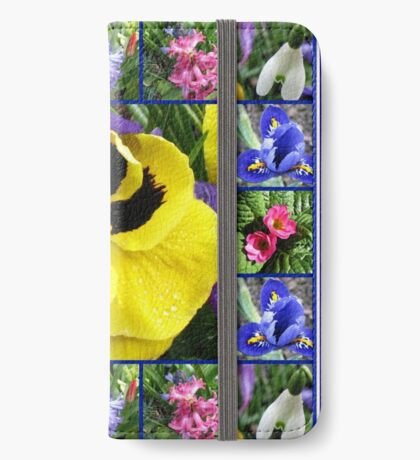 Riot of Colour Spring Flowers Collage iPhone Flip-Case
