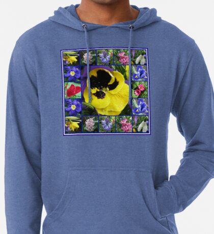 Riot of Colour Spring Flowers Collage Leichter Hoodie