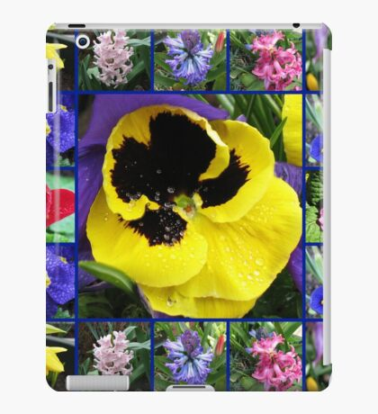 Riot of Colour Spring Flowers Collage iPad-Hülle & Klebefolie