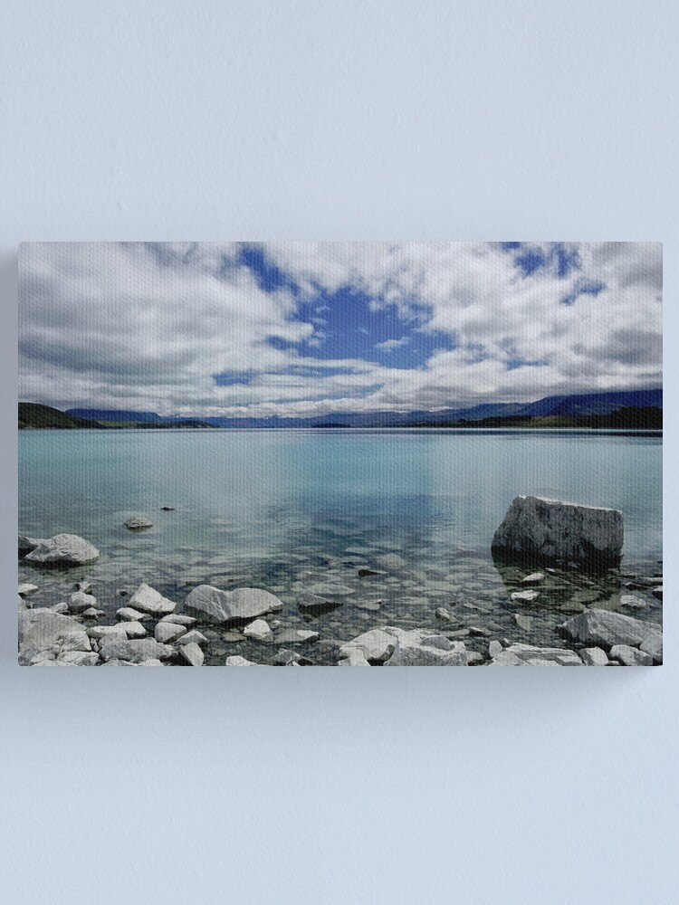 Alternate view of Into Lake Tekapo, New Zealand Canvas Print