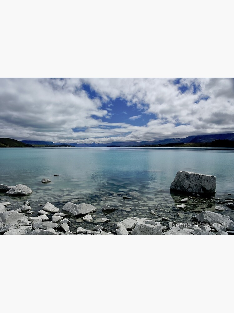 Into Lake Tekapo, New Zealand by keystone