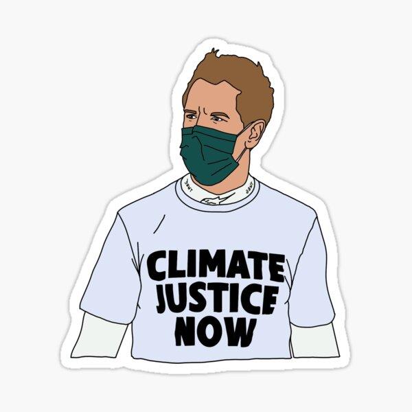 Sebastian Vettel - Klimagerechtigkeit jetzt Sticker