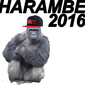 HARAMBE FOR PRESIDENT 2016 by HaydenGise