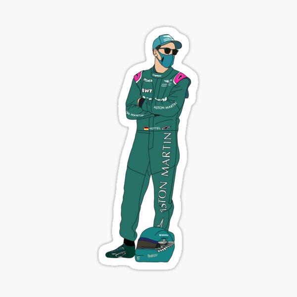 Sebastian Vettel - Arme verschränkt Sticker
