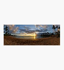 Napili Bay Sunset Panorama Photographic Print