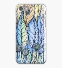 Breeze. Hand draw  ink and pen, Watercolor, on textured paper iPhone Case/Skin