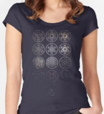 13 Circles [Tight Cluster Galaxy] | Sacred Geometry Women's Fitted Scoop T-Shirt
