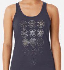 13 Circles [Tight Cluster Galaxy] | Sacred Geometry Racerback Tank Top
