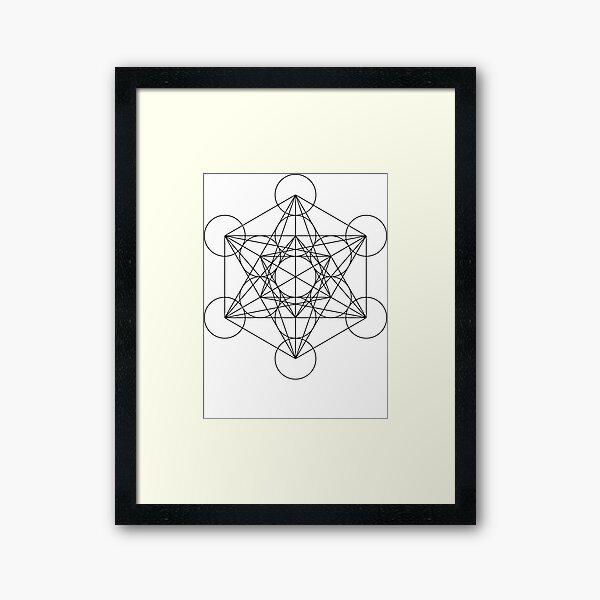 Metatron's Cube | Sacred Geometry Framed Art Print